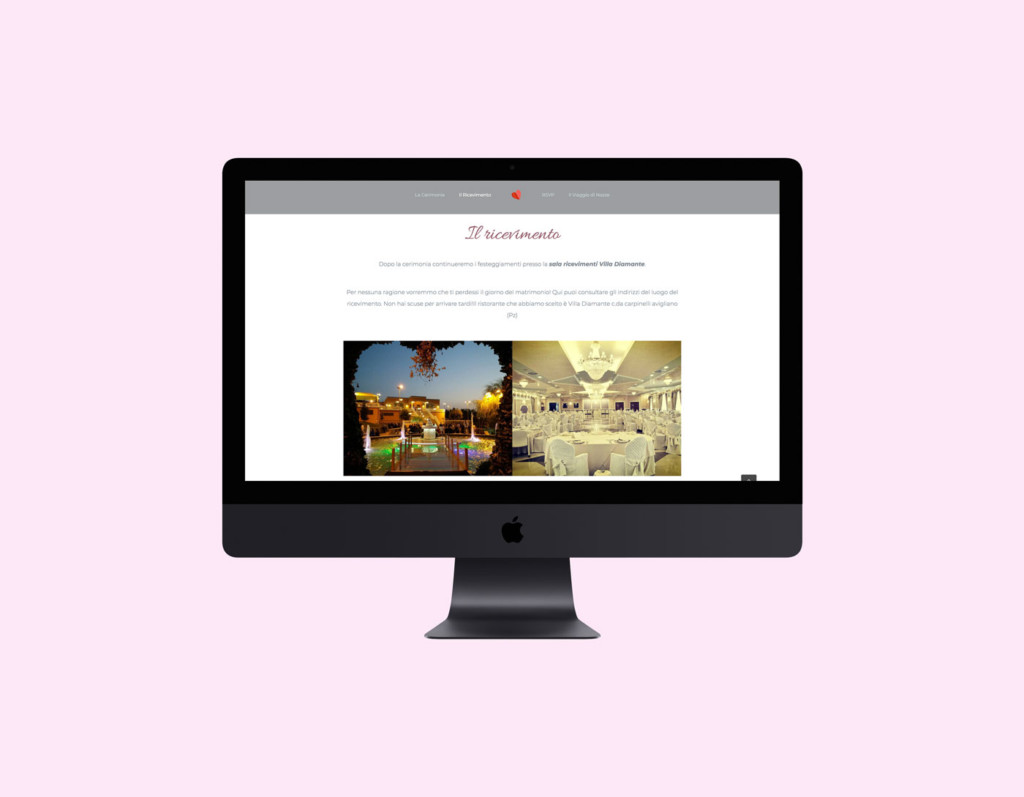 sito web wedding